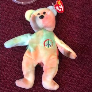 Ty Beanie Baby Very Rare PEACE BEAR! Collectible